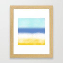 Sun Sea And Sand 2 Framed Art Print