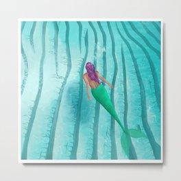 A Mermaid Swim Metal Print
