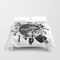 metropolis Duvet Covers featuring Metropolis by DLS Design