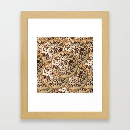 Chocolate Chip Cheesecake Framed Art Print