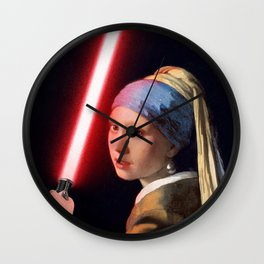 The Girl with the Lightsaber Wall Clock