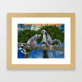 Playful Lemur-ick  Framed Art Print