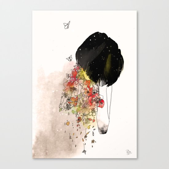 you can only give so much Canvas Print