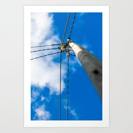 Light pole Art Print