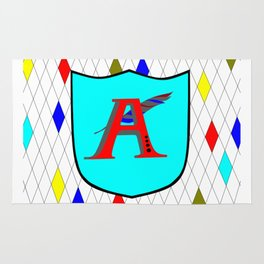 A Shield with a Letter A Rug