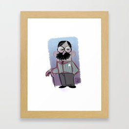 Man with mustache Framed Art Print