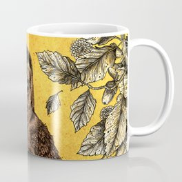 Tawny Owl Yellow Coffee Mug