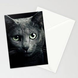 Gray Cat Stationery Cards