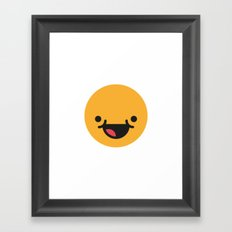 Emojis: Happy Framed Art Print