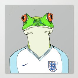 Football Frog Canvas Print