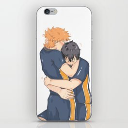 kagehina -tired but happy iPhone Skin
