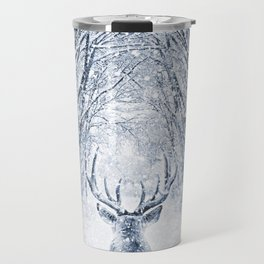 Winter deer Travel Mug