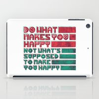 be happy iPad Cases featuring Happy by Hector Mansilla