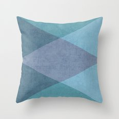 the blue triangles Throw Pillow