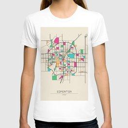 Colorful City Maps: Edmonton, Canada T-shirt
