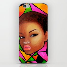 Wise Afro Natural hair iPhone Skin