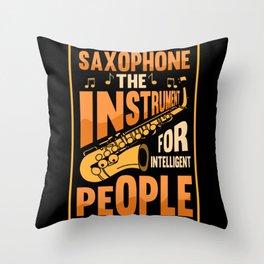 Saxophone Jazz Music Brass Musical Throw Pillow