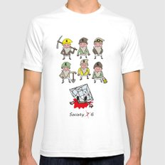 SIX DWARFS Mens Fitted Tee White SMALL