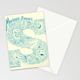 Monster Doodle - light version Stationery Cards