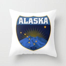 Alaska Badge Throw Pillow