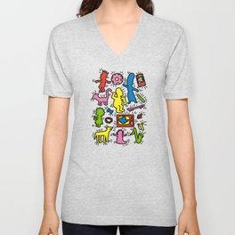 Haring - Simpsons Unisex V-Neck