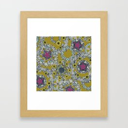cirque fleur jalapeno grape star Framed Art Print