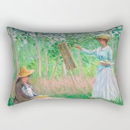 Monet - In the Woods at Giverny Rectangular Pillow