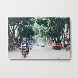 Hanoi streets  Metal Print