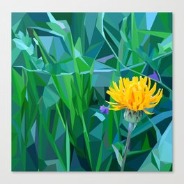 Yellow flower in the grass Canvas Print