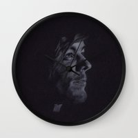 louis tomlinson Wall Clocks featuring Louis Tomlinson II by Jen Eva