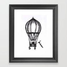 Hot Air Balloon Framed Art Print
