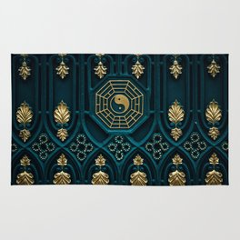 Leo Abstract Background Rug