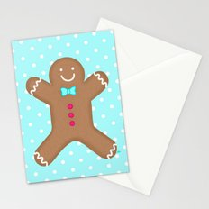 Yummy Gingerbread Man Cookie Stationery Cards
