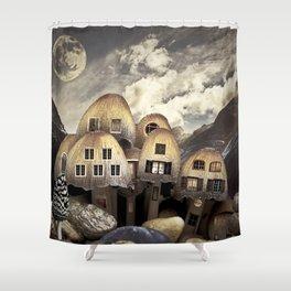 Mushrom Village Shower Curtain