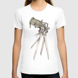 Scissorhands (Sepia-R) T-shirt