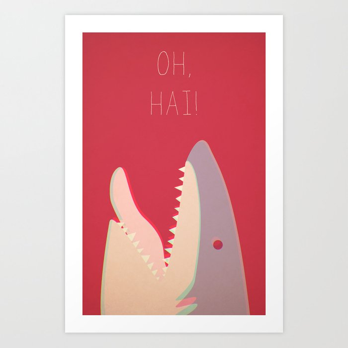 Sharky Art Print