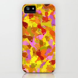 Abstract Footprints iPhone Case