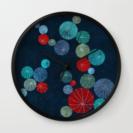 Colorful cactus field Wall Clock