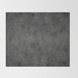 Black Faux Concrete Stone Texture Industrial Art Throw Blanket