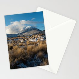 Mt Ngauruhoe Snow Dusting Stationery Cards