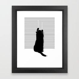 Cat Scratch Framed Art Print
