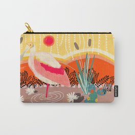 Roseate Spoonbill in the Sunset Carry-All Pouch