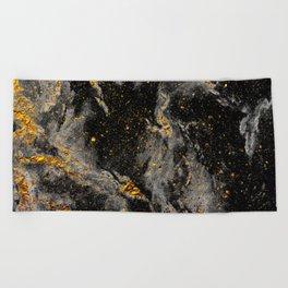 Galaxy (black gold) Beach Towel