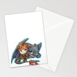 Httyd 2 - Chibi Hiccup and Toothless Stationery Cards