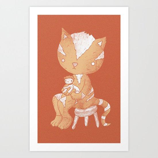 Lap cat Art Print