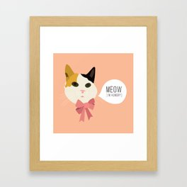 Shelley the Tortoiseshell Cat Framed Art Print