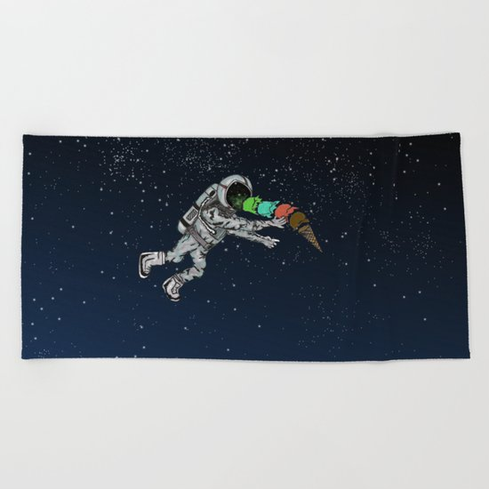 Spacetime Sadness Beach Towel