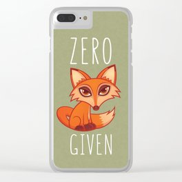 Zero Fox Given Clear iPhone Case