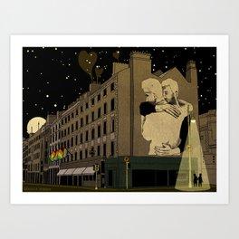 Dublin Scene of Joe Caslin Mural: The Irish Marriage Equality Referendum Art Print