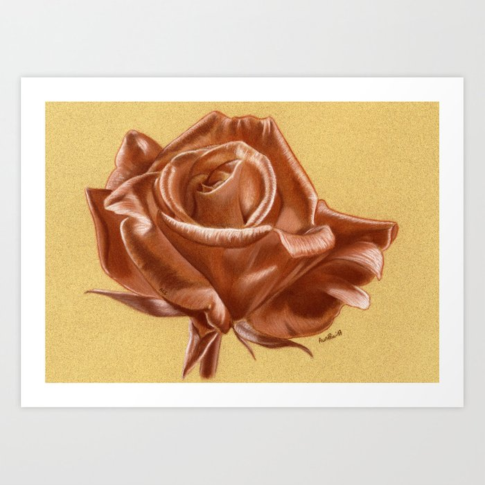 Sanguine Rose Art Print